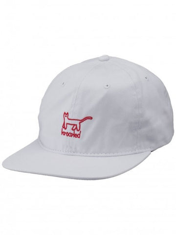 Krooked Kat 6 Panel Hat / White