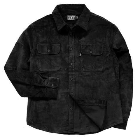Vic Cord Shirt / Black
