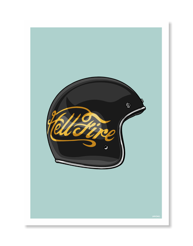 Hellfire Helmet Print by Glenn Smith / A3