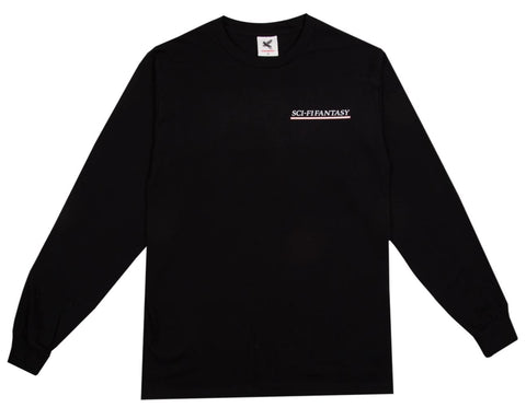 Sci-Fi Fantasy Industrial Long Sleeve Tee / Black