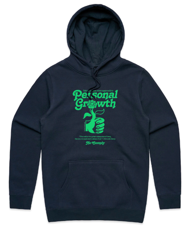 No Comply Issue #9 Personal Growth Hoodie / Navy