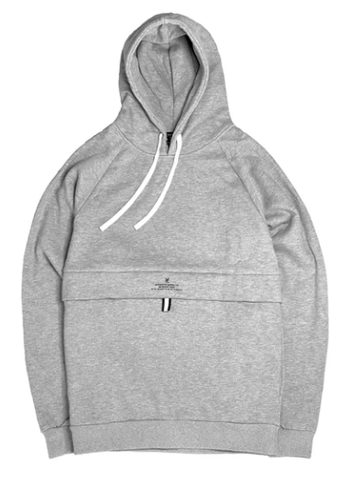 Vic Cargo Pullover Hoodie / Grey Marle