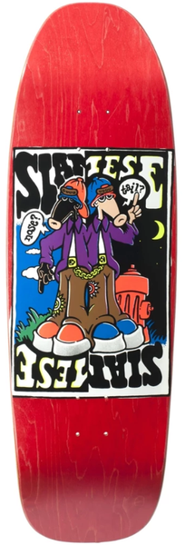 New Deal Siamese Double Kick Reissue SCREENPRINTED Deck 9.625""