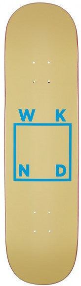 WKND Logo Cream Deck 8.125""