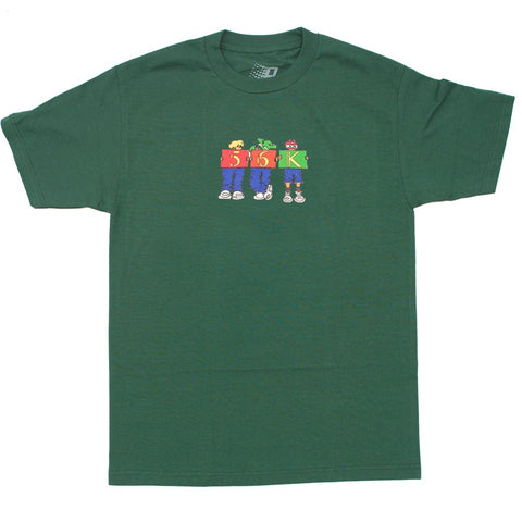 Bronze 56k Childhood Tee / Forest Green