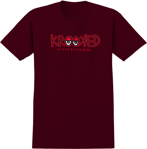 Krooked Eyes Tee / Burgundy