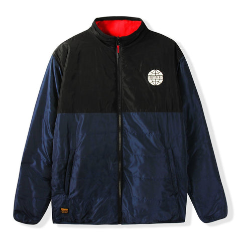 Butter Goods Arctic Reversible Puffer Jacket  / Black / Navy / Red