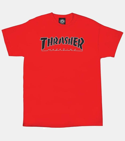 Thrasher Outlined Tee / Red