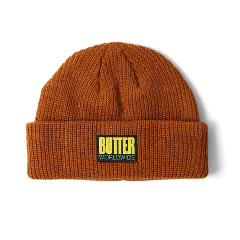 Butter Goods Hike Wharfie Beanie / Brown