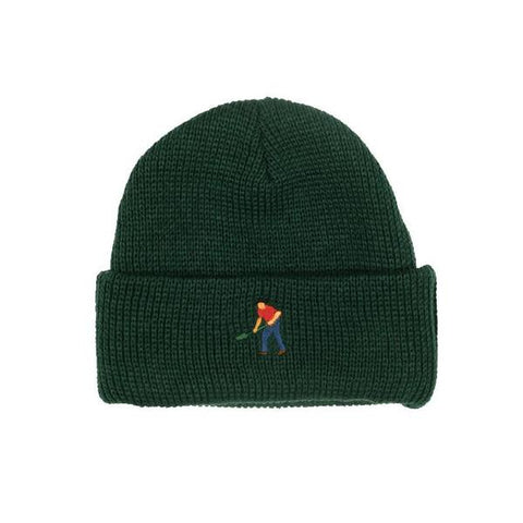 Passport Full Time Embroidery Beanie / Green