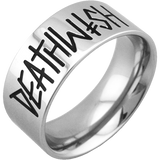 Deathwish Band Ring / Silver