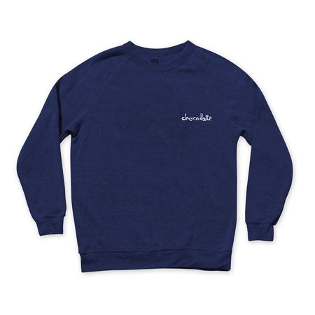 Chocolate Mini Chunk Embroidered Crew / Navy