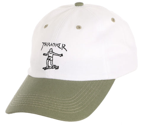 Thrasher Gonz Old Timer Hat / White / Olive