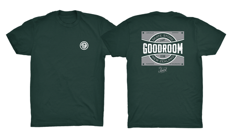 TGR Local Tee / Forest Green / White / Grey