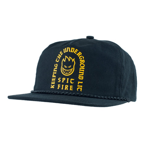 Spitfire Steady Rockin Snapback Hat / Black