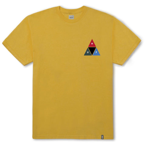 Huf Prism Triangle Tee / Mineral Yellow