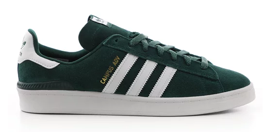 Adidas Campus ADV / Green / White / Gold