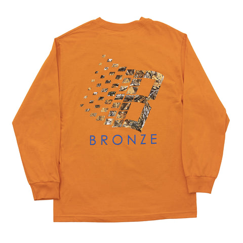 Bronze 56k B Logo Tree Longsleeve Tee / Orange