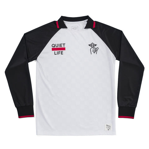 The Quiet Life Goalie L/S Jersey - White/Black