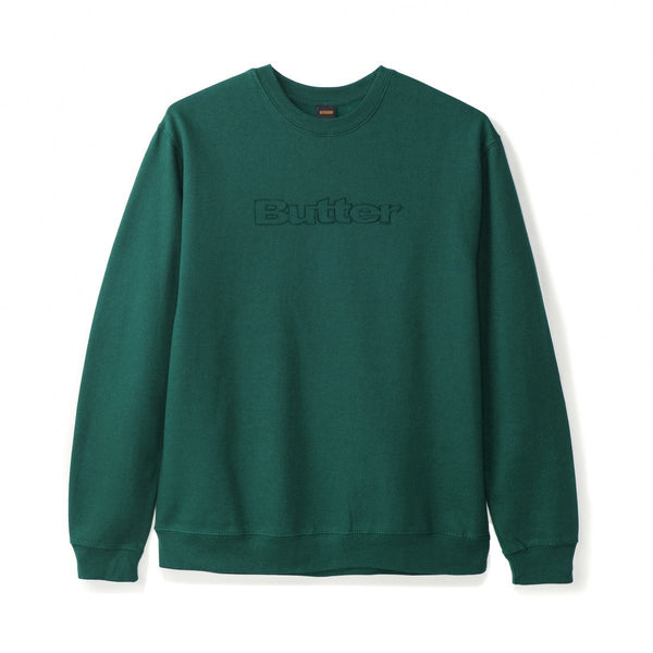 Butter Goods Pigment Dye Crew / Forest Green