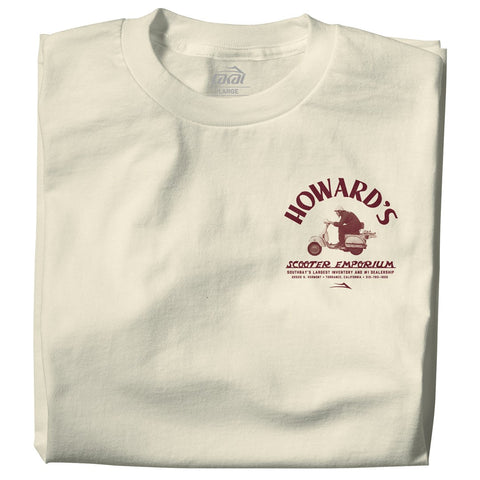 Lakai Howard's Scooter Emporium Tee / Cream