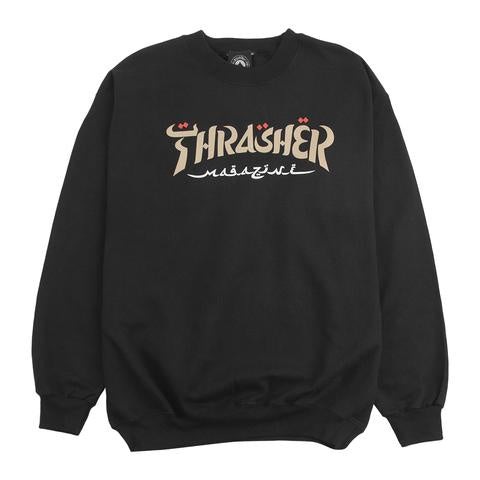 Thrasher Calligraphy Crew / Black
