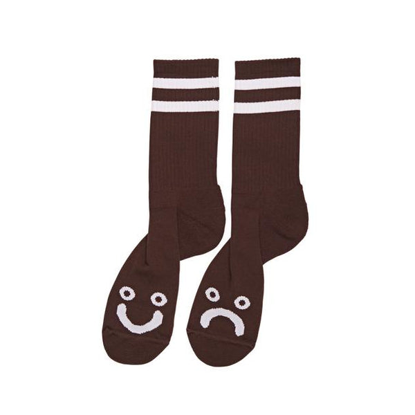 Polar Happy Sad Classic Socks / Brown