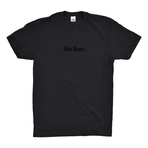 AfterHours EMB (Embroidered) Tee - Black
