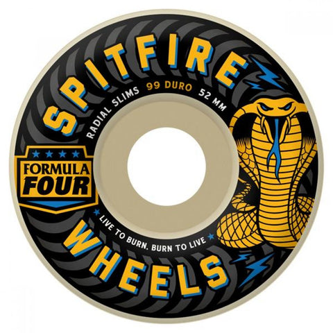 Spitfire F4 99 Duro Radial Slims Wheels 52mm
