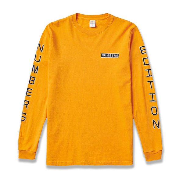 Numbers Edition Vertical Stack Long Sleeve Tee / Gold