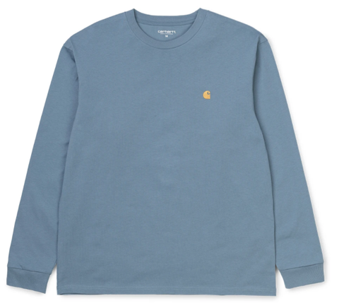 Carhartt WIP Chase Long sleeve Tee / Mossa / Gold