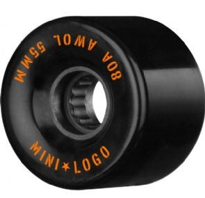 Mini Logo AWOL A-Cut Black Wheels 55mm
