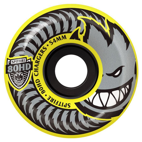 Spitfire Chargers 80HD Conical Yellow Wheels 54mm