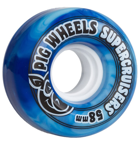 Pig Supercruisers Blue Wheels 58mm
