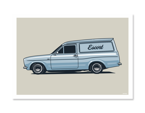 Ford Escort Print by Glenn Smith