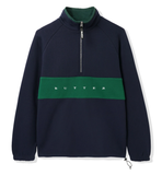 Butter Goods Hampshire Quarter Zip Pullover / Navy / Forest
