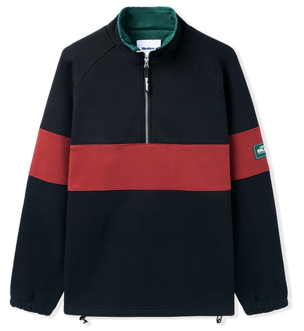 Buttergoods  Sect 1/4 Zip Pullover / Black / Wine