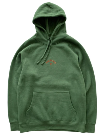 Vic Flame Pullover Hoodie / Forest Green
