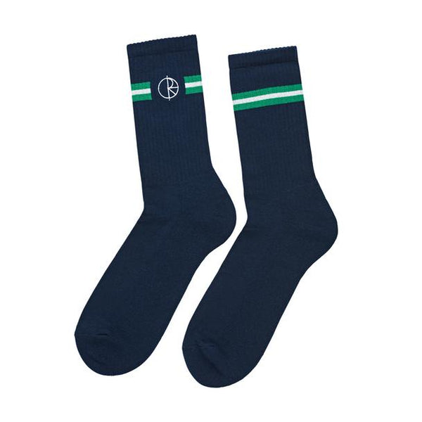 Polar Stroke Logo Socks / Navy / Green / White