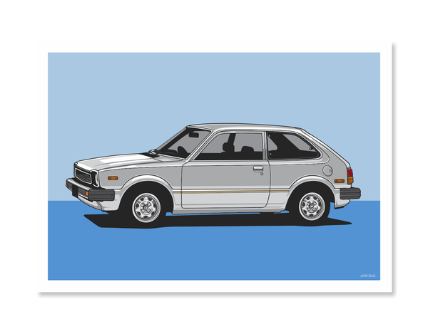 Honda Civic Print by Glenn Smith - A3