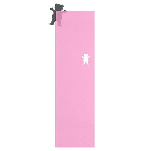"Grizzly Clear Cutout 9"" Grip Tape / Pink"