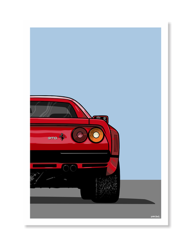 Ferrari Print by Glenn Smith / A3