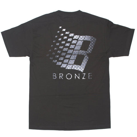 Bronze 56k Logo Diamond Plate Tee / Black
