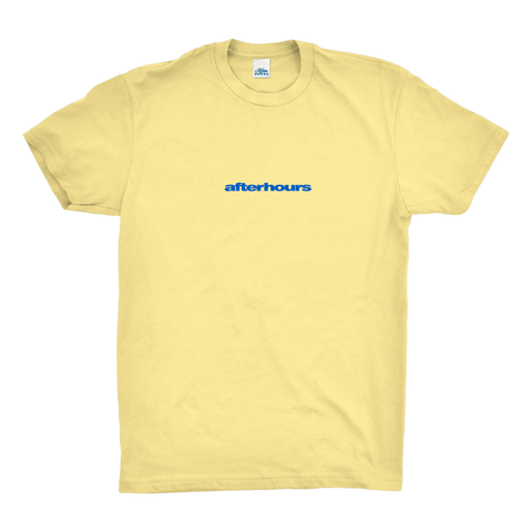 AfterHours Swiss Tee / Pale Yellow