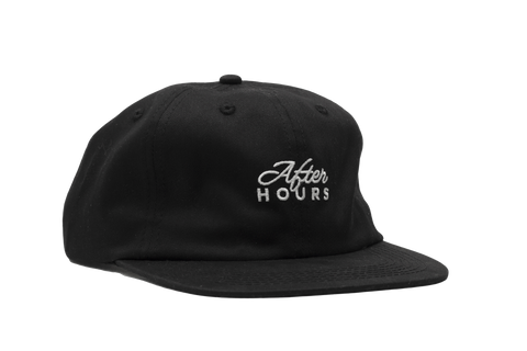AfterHours Classic Logo Unstructured 6 Panel Hat - Black