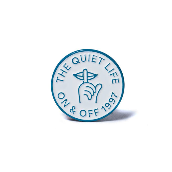 The Quiet Shh Circle Lapel Pin