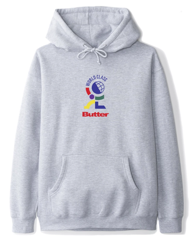 Butter Goods World Class Pullover Hoodie / Heather Grey