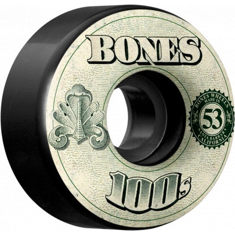Bones OG 100s Wheels V4 53mm / Black