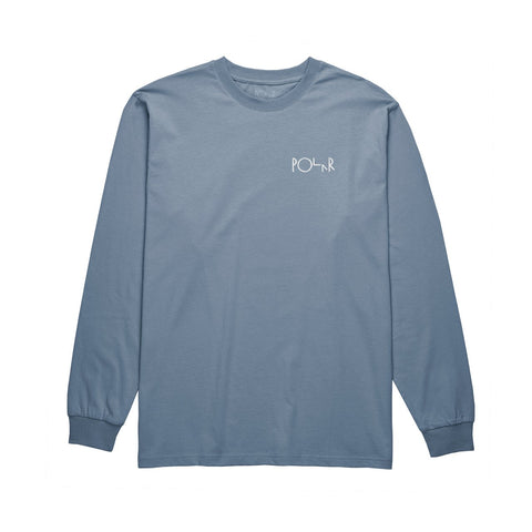 Polar Script Long Sleeve Tee / Captain's Blue