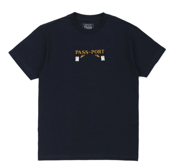 Passport Waiter Embroidered Tee / Navy